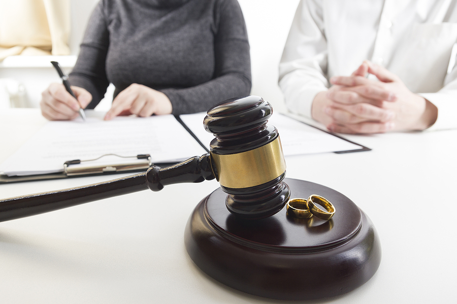 Couple filing for divorce